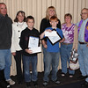<b><i>2012 PEACE POSTER WINNERS ANNOUNCED</i></b>  </i>The 2012 Lions International Peace Poster Contest winners in Belle Fourche!  The winners were announced on Thursday (11/8/12) at the Lions meeting at the Stadium Grill.  First Place winner John Maher is in front at left.  Next to him is Caden Kinter, Second Place winner.  Remember, you can click on the image in order to select a larger version of the photo.  In the back, left-to-right, are John's parents, Jim and Jean Maher; Caden's mother, LeAnn Steffen; Kristy Messner, supervisor of the Peace Poster Contest in the Belle Fourche Schools; and Lion Bill Kunerth, Peace Poster Chairman.    Congratulations to the winners!