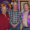 Forester Bill Coburn (at left) from Neiman Timber Company gave an excellent program on the mountain pine beetle that is causing so much harm to the Black Hills.  And the worst may yet be ahead.  At our February 23rd, 2012 meeting, Coburn urged club members to become engaged and help spread greater awareness of the problem.  <br /> <br /> Lion Leo Orme (center) and President Brian Kline joined Coburn for this photo after the program.