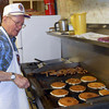 Flipping flapjacks is more than an art -- it's a craft!  Here, Master Craftsman Bob Schnaible does his magic.