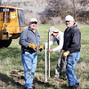 Lions Ron Ensz (left) and Rich Drabek (right) with Rapid City engineer Scott Caeser (center).  Don't forget that you can see a larger photo by simply clicking on the image and selecting the size you wish from the menu at top.
