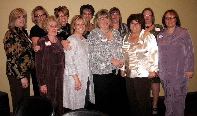 "These are the officers for the newly-chartered Northern Lights Lion Club in Belle Fourche.  In the front row (left-to-right): Joyce Drabek, Linda McElwain, Joan Manke, Marsha Osloond, and Kelly Walton. In the back row are: Mary Riley, Robin Carlson, Bev Banks, Kellie Pummel, Geri Drabek, and Dallas Connor.  Click on the image to see a larger version of this photo.     <b>Return to <i> <a href=""http://www.bellefourchelions.org"">Belle Fourche Lions</a> web site</i></b>"