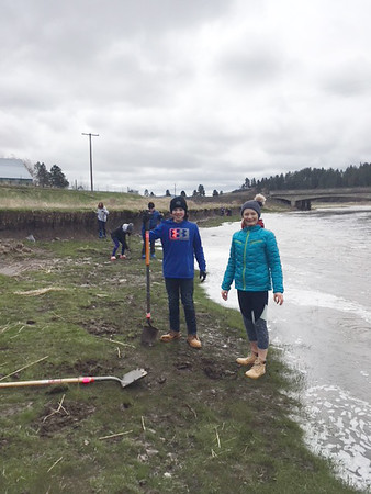 MS 7th Riparian Planting 4-13-18