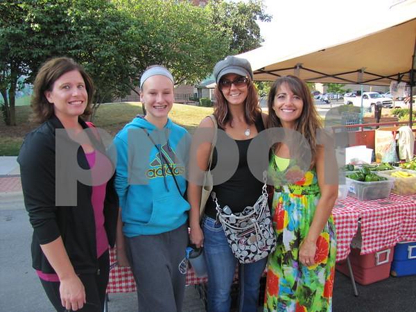 Brenda Erickson, Alexis Erickson, Tinahti Berdaus, and Dawn Savory at Market on Central.