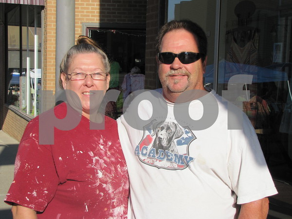 Carmen and Donald Morris from Vidor, Texas stopped by Market on Central before heading to work Saturday morning.