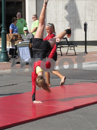 Members of Hollingsworth School of Dance students performed on Central.