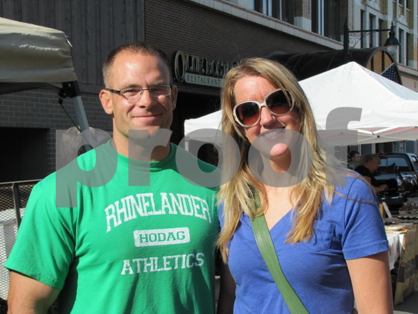 Curtis Matuska and Jill Byrne attended Market on Central while visiting here from Minnesota.