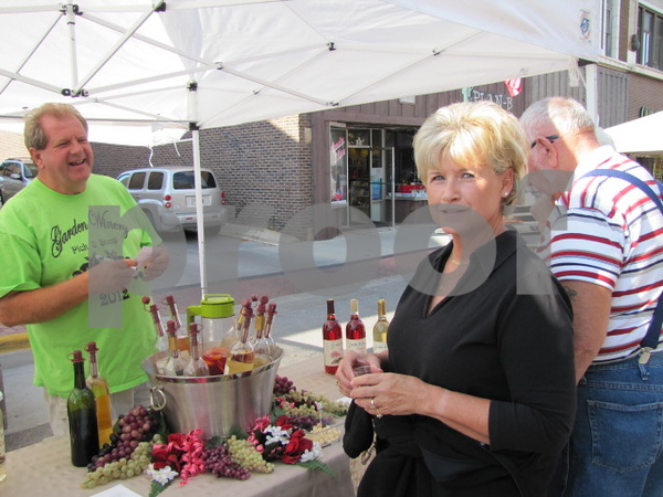Sue Anderson at the Garden Winery booth at Market on Central.