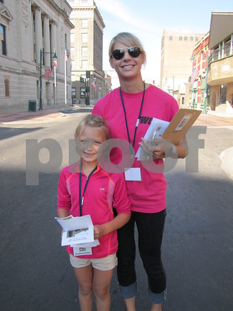 Kara and Ava Brunner handed out maps of the vendor locations at Market on Central.