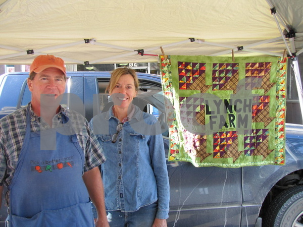 Mark and Janine Lynch at their booth at Market on Central.