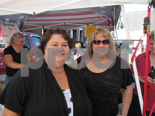 Angie Kalkwarf and Jessica Ross attended Market on Central.