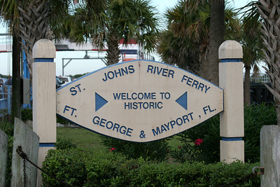 Mayport Ferry Sign