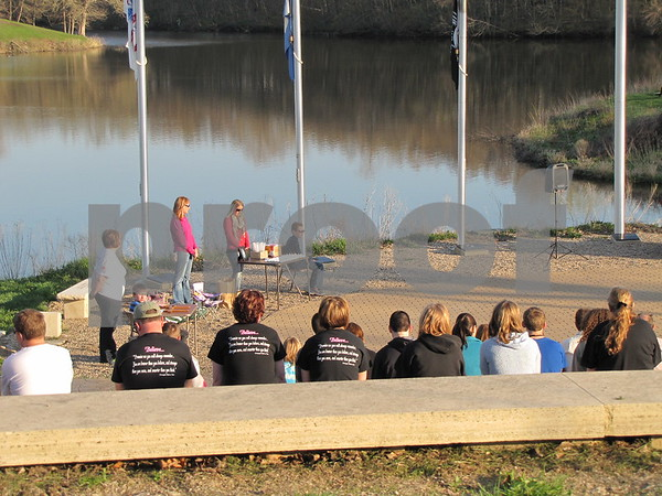Mother's Day Memorial Celebration of Life at Veterans Memorial Park overlooking Badger Lake.