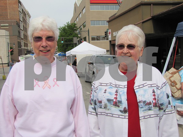 Mary Paul and Sara Thuston attended Market on Central.
