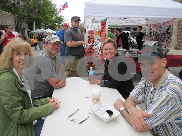 Tony and Jamie Adair (in back) and Jeanette and Steve Tedeschi after a bit of breakfast at Market on Central.