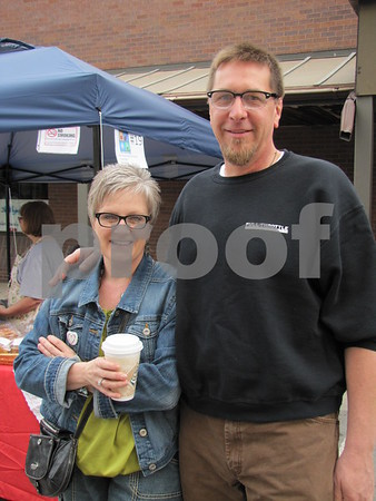 Shari and Erik Burke attended Market on Central.