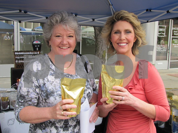 Ann Shriver and Laurie Tomke at Market on Central