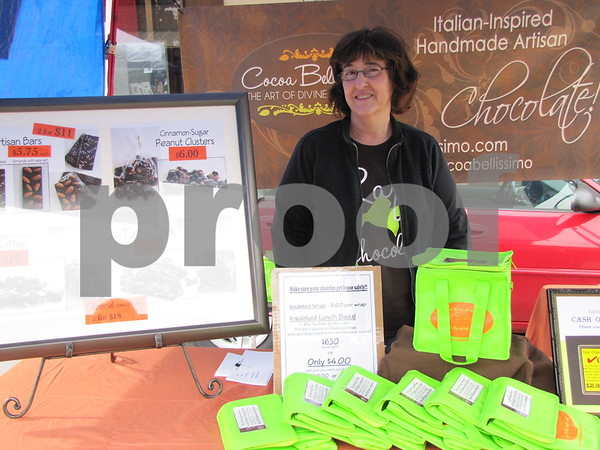 Rita Pierson of Cherokee brought her fine chocolates to Fort Dodge at Market on Central.