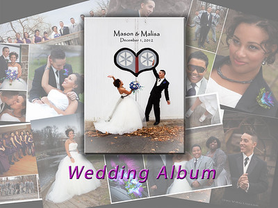 EVENT PHOTOGRAPHY: We love to photograph events and create a custom album as a treasured keepsake.  Shown here: Front cover (center) with an open spread (faded behind).