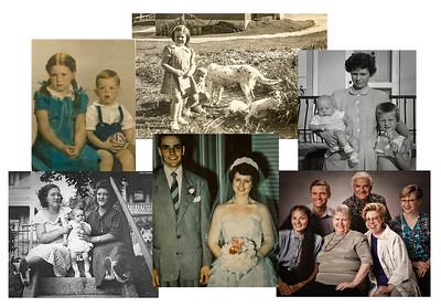 Simple bi-fold. Inside: Optional image collage.