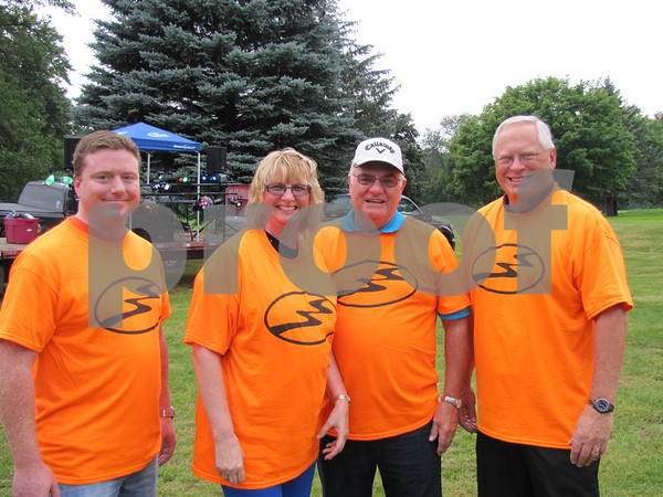 Volunteers for the event Mike Murphy, Kellie Guderian, Rich Lawson, and Dave Prebeck.