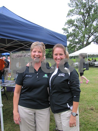 Karen Wood with the Fort Dodge Growth Alliance and Lori Branderhorst, Fort Dodge Parks and Recreation.