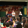 Rotary members talk to Bellaire Elementary students.