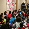 Rotary members talk to Midway Park students.