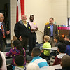 Members of Rotary talk to students at Shady Oaks Elementary.