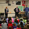Rotary members talk to West Hurst students.