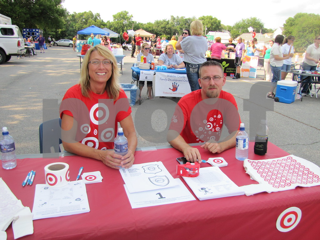 Rose Dopita and Jeff Habben of Target at the 'Back to School Bash'.