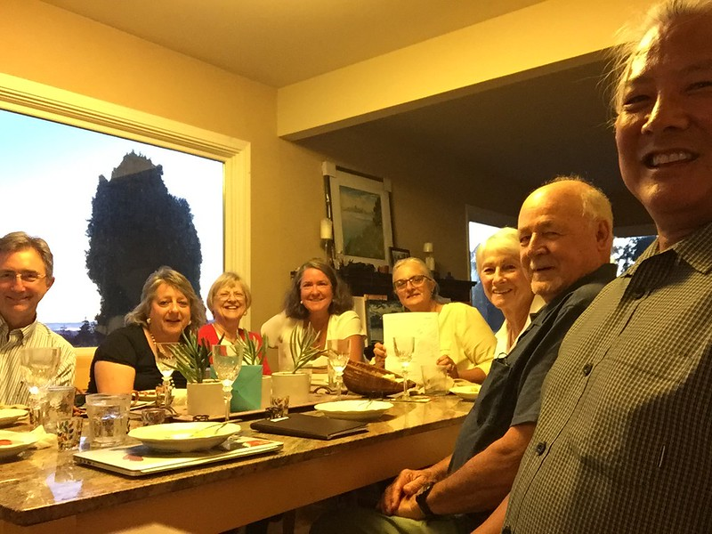 Exec Board , Oct 23, 2017. L-R: Greg, Donna, Jane, Michelle, Joann, Mae, Richard, MT