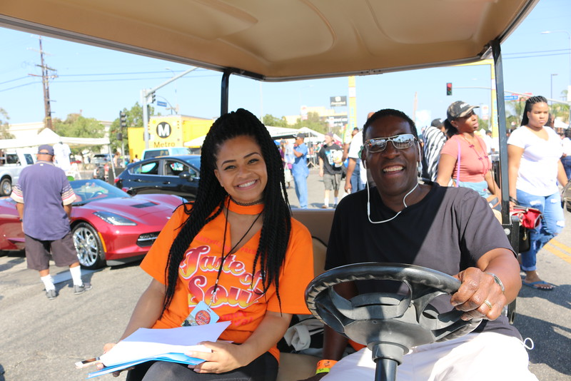 These two beautiful people loaded up this cart and delivered water to the cooling stations at #tasteofsoulla