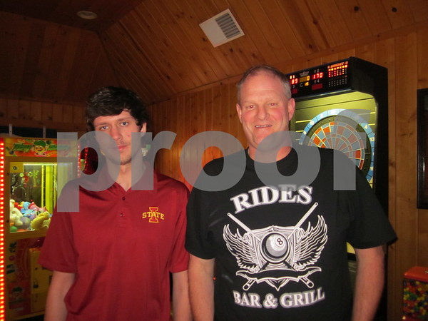 Alex and Greg Wendland enjoy spending father/son time together during pool league.
