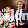 The Tom Landry Classic 2016 scholarship winners received their scholarships.  Scholars were 2017 seniors, Reeves Moseley, Emma Webb, Linda Hagler and Garrett Carter.  Monday, April 24 at Maggiano's Little Italy Ballroom in Dallas, TX. (Emma Webb/ The Talon News)