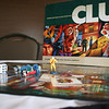 Close up of the board game Clue.
