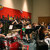 Trinity jazz band performs a piece.