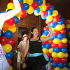 Guests enter through balloon arch.