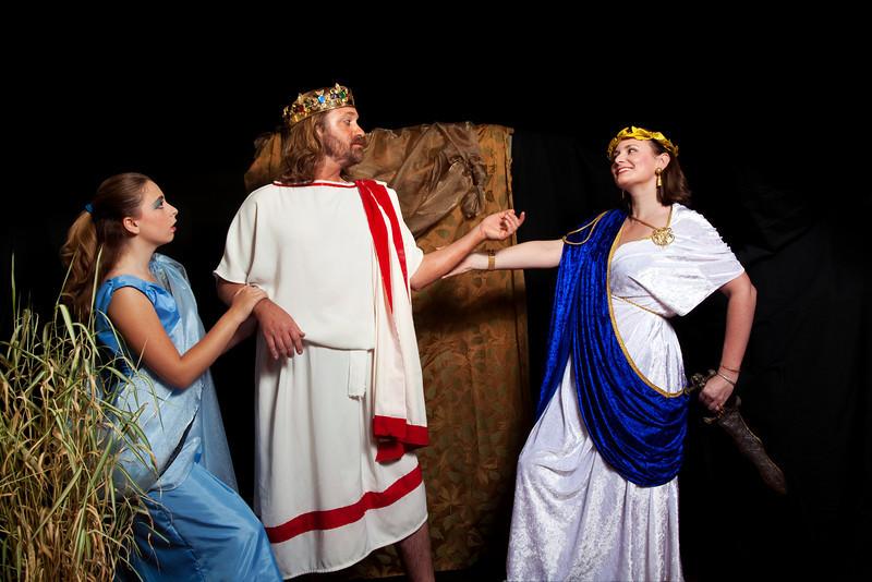 3.  Agamemnon, Clytemnestra, and Cassandra