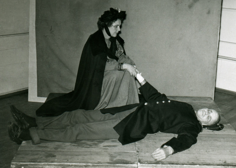 Lady with Prone Man, Eleanor Curtis?
