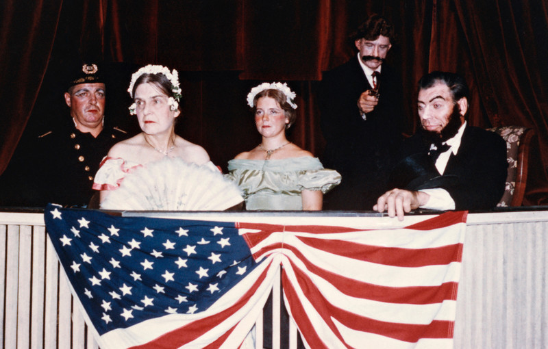 Abraham Lincoln at Ford's Theatre with Booth