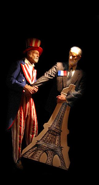 Uncle Sam  & Jacques Chirac