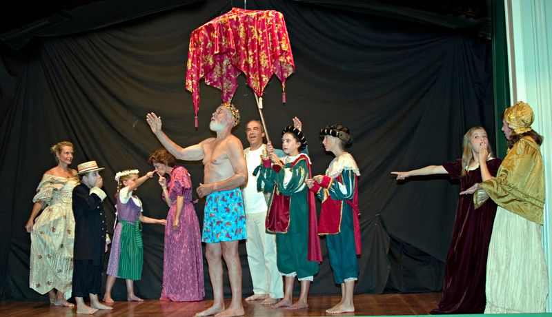 Emperor's New Clothes<br /> Duncan Nelson, : Various Nelson Family Members, Steve & Sara Wilkins, Cal Cook, Suzanne O'Donnell, Katherine Johnston & Victoria Johnston (Role Share)
