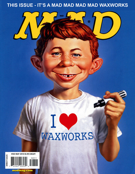 Mad Magazine Cover for Mad Mad Waxworks; created by Peter Kuttner
