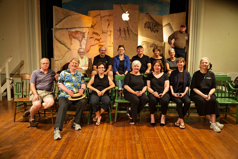 Committee and Crew:<br /> Back: Jo Griffith, Tim Thurman, Carol Harper, Peter Kutner, Elaine Kutner, Anne Meyer, Bob Griffith<br /> Front: John Pear, George Mechem, Peg Ris, Lucy Runyon, Karen Mechem, Diana Pear, Toni Elliot<br /> Missing: Aimee Feeley, Cheryl Thurman