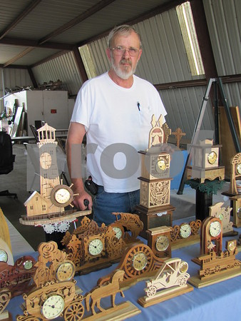 Gene VanGrevenhof was selling his wood crafts at the Webster County Fair.