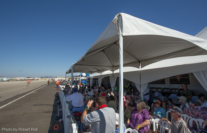 Guests in the VIP Tent viewed the air show action from as close to the flight line as a visitor could get.