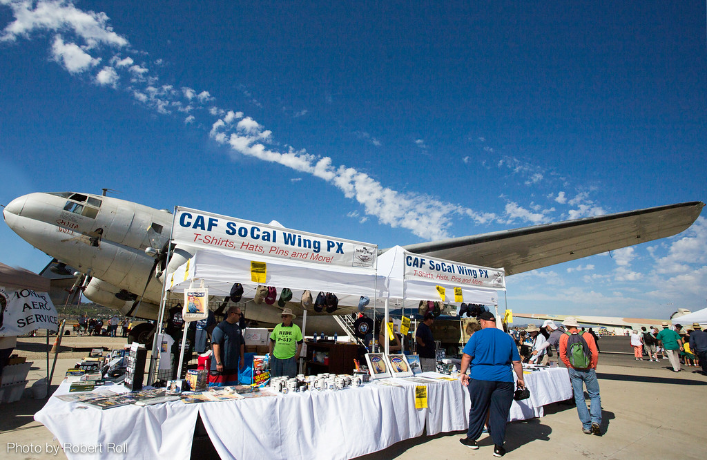 Ventura's Wing of the Commemorative Air Force set up shop beside its popular C-46 transport plane, the China Doll.