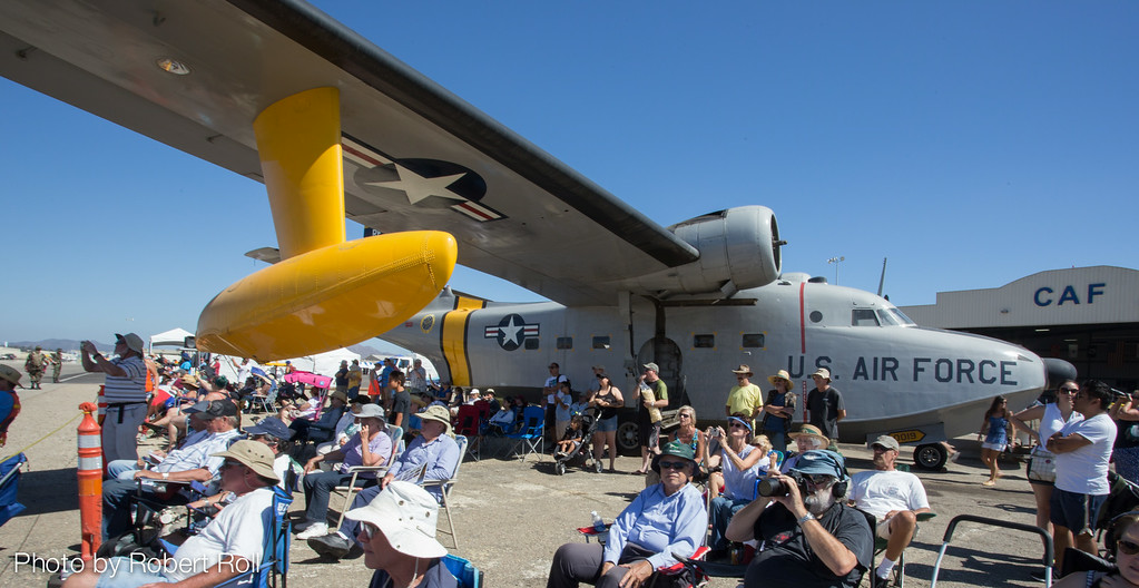 Visitors to the 2014 Wings Over Camarillo Airshow sought a shady spot wherever it presented itself at Saturday's event.