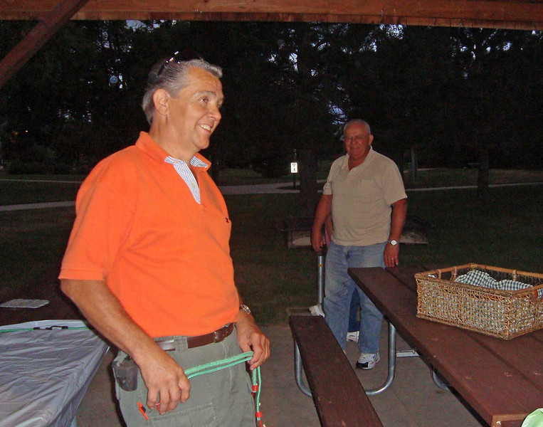 Dale Donat and Ray Bender tend to clean-up chores following the fall picnic (9/9/10) at Jorgensen Park.  Thanks to Mary Temple for snapping these few photos!