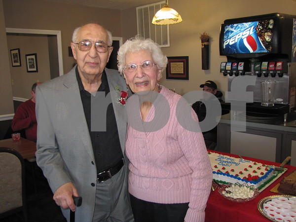 Bob and Marie Zakeer at Bob's birthday open house held at their restaurant Saturday.